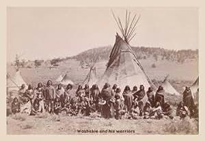 Washakle y sus guerreros 12x18 Giclee sobre lienzo