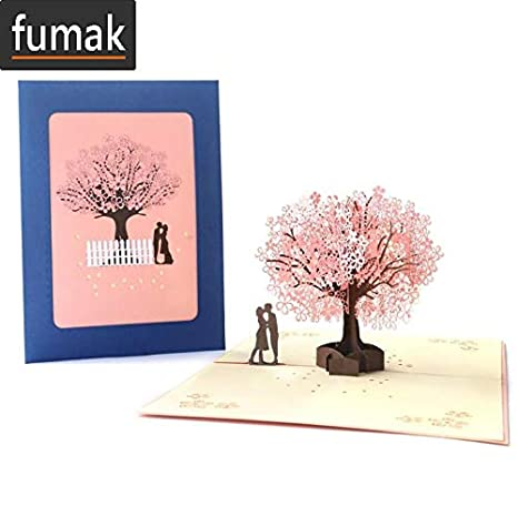 Amazon.com: Tarjeta de cumpleaños 3D para niñas, esposa ...