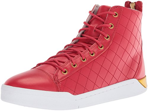 Diesel Men's Tempus Diamond Sneaker, Tango red, 8.5 M US