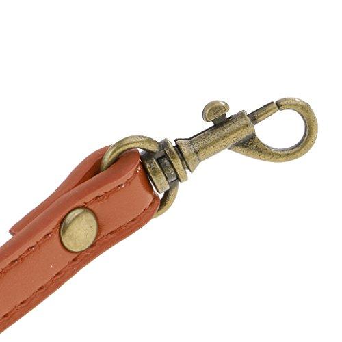 Hombro de de Azul Reemplazo Ajustable Marrón de Bolsa Crossbody Bolso Sharplace de DIY de Cuero Correa de Correa wXSn7Rq