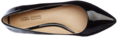 Buffalo 01 David Bitton P1236i Pu PatentBallerines H690a 30 Noirblack Femme A4RL5j