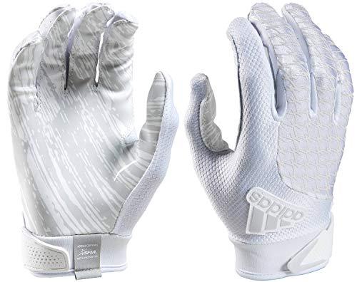 (adidas ADIFAST 2.0 Football Receivers Gloves, White/White, Mediun)