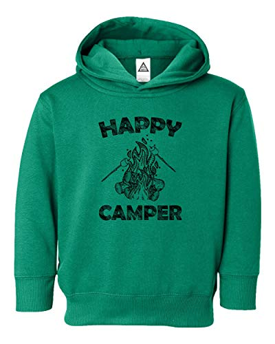- Happy Cool Camping Vintage Funny Retro Design Little Kids Pullover Hoodie Toddler Sweatshirt Green