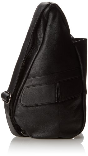 AmeriBag Classic Leather Healthy Back Bag tote Extra-small,Black,one size by AmeriBag