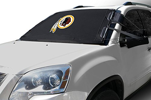 FrostGuard NFL Premium Winter Windshield Cover for Snow, Frost and Ice - Cold Weather Protection for Your Vehicle - Washington Redskins, Standard Size