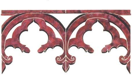 DEE472 by DeeSigns Designer Stencils Gothic Revival Border Wall Stencil