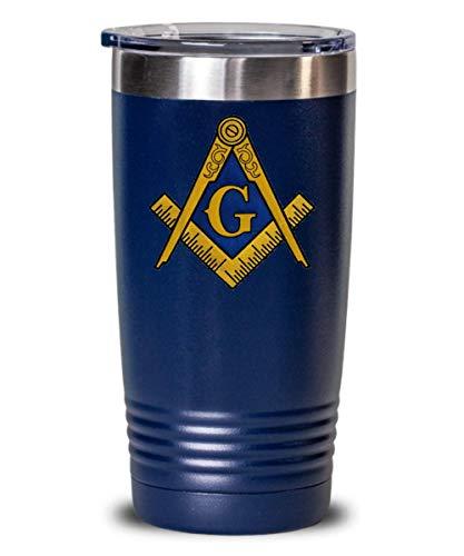 (Masonic tumbler - Freemason symbol square and compass - Freemasonry lodge gift accessories - Scottish York rite Prince Hall PHA Brother Master Mason gifts - 20 oz)