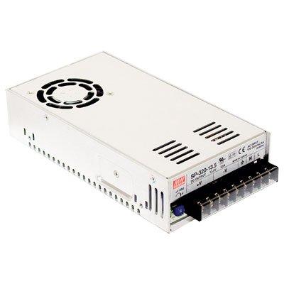 Mean Well SP-320-12 Power Supply, Single Output, 12 Volt, 25 Amp, 300 Watt, 8.5' L x 4.5' W x 2.0' H, Silver