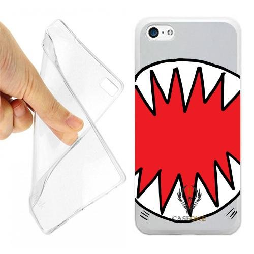 CUSTODIA COVER CASE CASEONE DENTI SQUALO PER IPHONE 5C OPACO