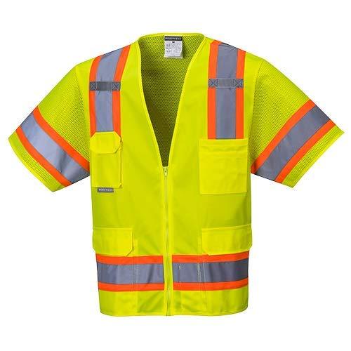 Portwest US373YER5XL Aurora Sleeved Hi-Vis Vest, 5XL, Yellow