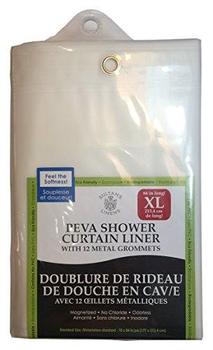 Extra Long PEVA Shower Curtain Liner 84