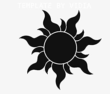 Amazon Com Tangled Sun Logo Vinyl Stickers Symbol 5 5 Decorative Die Cut Decal For Cars Tablets Laptops Skateboard Black Computers Accessories