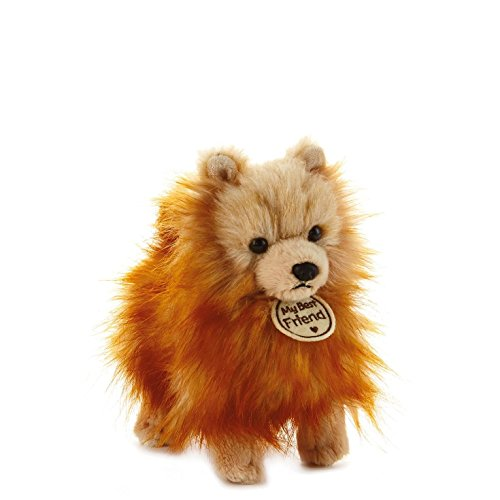 Hallmark My Best Friend Small Pomeranian Plush Stuffed Animal Gold Pomeranian