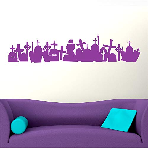 Yunhaa Quote Mirror Decal Quotes Vinyl Wall Decals Graveyard for Halloween Day]()