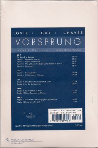 Audio CD Program for Lovik's Vorsprung: A Communicative Introduction to German Language and Culture (German and English