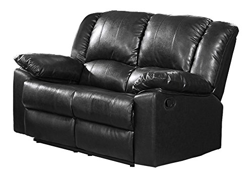 Milton Greens Stars Burgas Reclining Love Seat, 60 by 38 by 40-Inch, Black