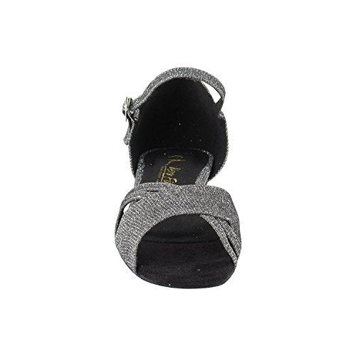"""Gold Taube Schuhe 50 Shades Of 1 """"Low Heel Tanz Kleid Schuhe: Frauen Komfort Ballsaal, Latin, Tango, Salsa, Schaukel, Praxis, Kunst von Party Party 6030 - Schwarzer Glitter Satin"""