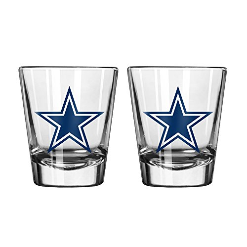 NFL Dallas Cowboys Game Day Shot Glass, 1.75-ounce, 2-Pack