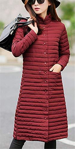 Cappotto Abiti Bottoni Parker Moda Lunghe Elegante Donna Maniche Tinta Larghi Capispalla Cappotti Colletto Gi�� Inverno Unita Rot Accogliente Saoye In PxfYqwEP