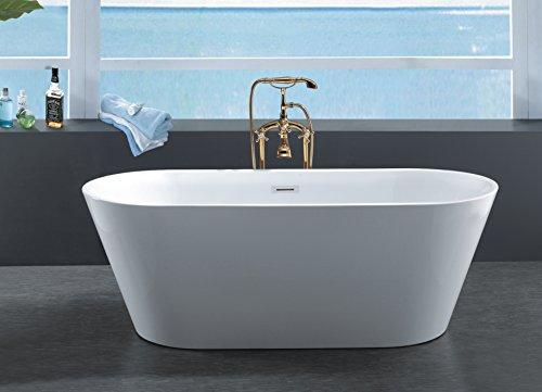 67'' Freestanding Luxury Bathtub White Acrylic by Eurotrend (Image #1)