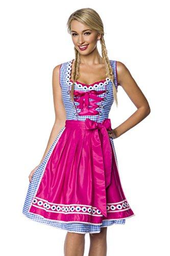 Heels-Perfect - Zuecos de Algodón para mujer pink/blau/weiß