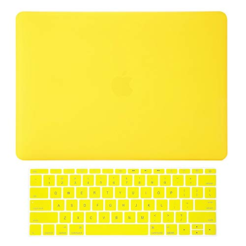 TOP CASE - 2 in 1 Signature Bundle Rubberized Hard Case + Keyboard Cover Compatible MacBook Pro 13