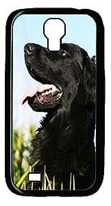Black Dog Hard Cover Back Case For Samsung Galaxy S4,PC Black Case for Samsung Galaxy S4 i9500
