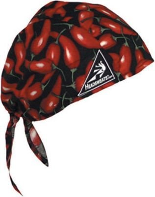 Mutual 50300-12 Cotton Head Wrap, Chili Pepper
