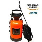 Könnig 1.3 Gallon/5L Pump Action Lawn, Yard and Garden Pressure Sprayer for Chemicals, Fertilizer, Herbicides and Pesticides with BONUS a Pair of Garden Gloves