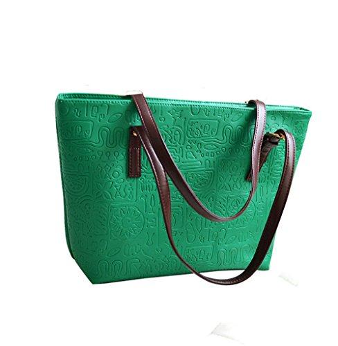 Del l Modello Modo Spalla W Sacchetti E 28 Tendenza X Shopper Borsa Cm Sacchetto 13 H Elaborazione Verde Elegante Dell'unità 40 Cuoio Di Wewod q4Rvw4X