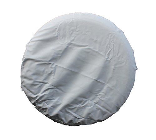 IZTOR White Spare Tire Cover PVC leather universal For truck jeep RV trailer SUV without LOGO printed Fits Entire Wheel dia 25