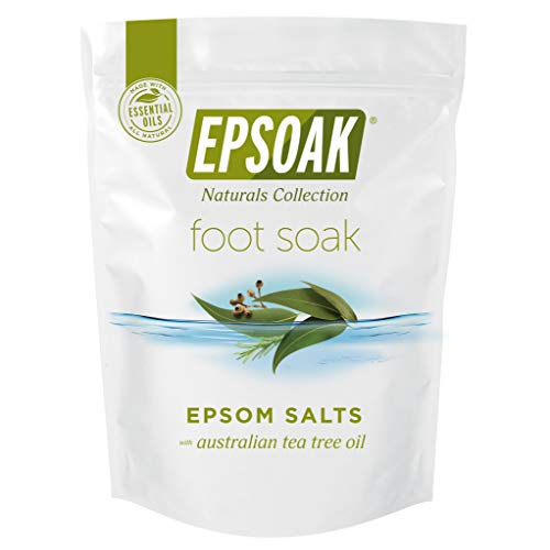 Tea Tree Oil Foot Soak with Epsoak Epsom Salt - 2 POUND Value Bag - Fight Bacteria, Nail Fungus, Athlete's Foot, and Unpleasant Foot Odor (Best Foot Soak For Nail Fungus)