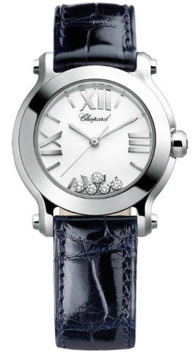 - Chopard Happy Sport II Ladies Blue Strap Diamond Watch 278509-3001