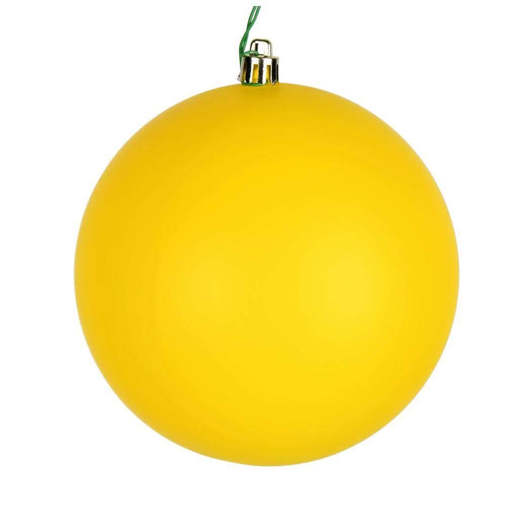 Vickerman 624029-2.75 Yellow Matte Ball Christmas Tree Ornament N590778DMV 12 pack