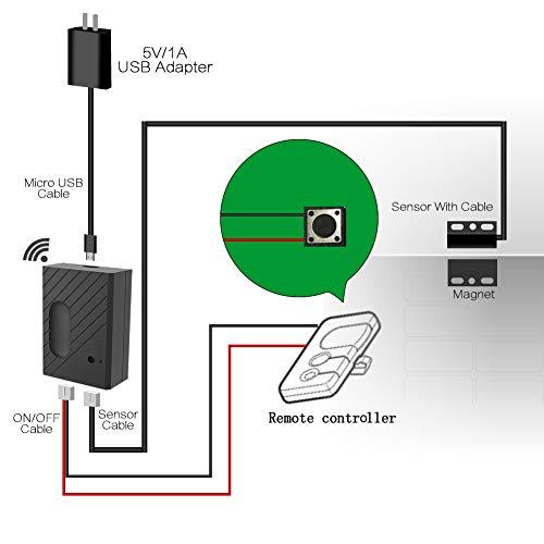 EACHEN WiFi Remote Control Garage Door Openers Inching Relay
