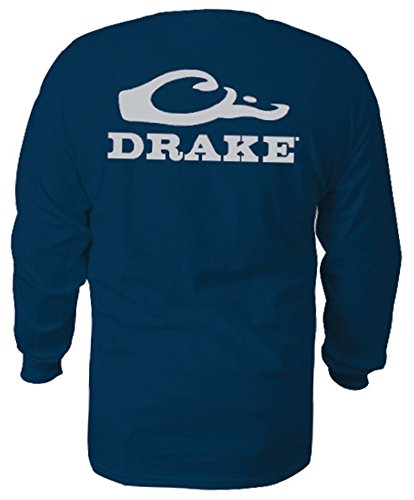 Drake-Waterfowl-Logo-Long-Sleeve-T-Shirt-Navy-Mens-Small