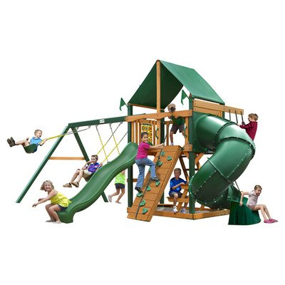 Mountaineer Swing Set with Timber Shield by Gorilla Playsets