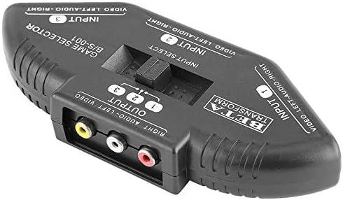 Alician エレクトロニクス 3 In 1 Out AV RCAスイッチスプリッターAVケーブル付きRCAオーディオビデオスイッチャーコンバーター
