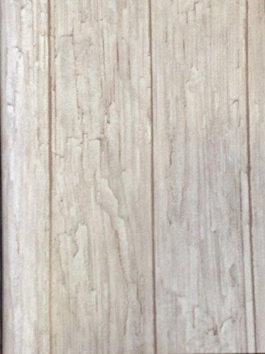 Carta da parati effetto legno invecchiato rovere sbiancato 10 x 53 ...