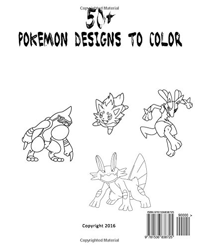 Amazing Pokemon Coloring Book For Kids And Adults 40 Designs Of