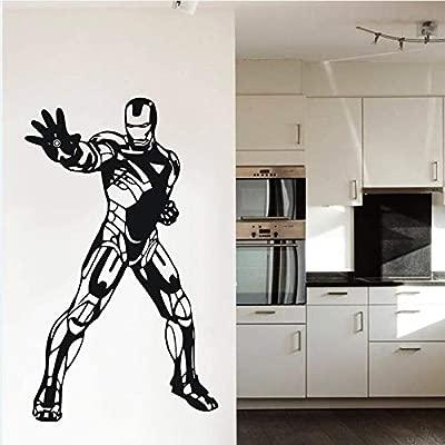 jiuyaomai Wall Art Decal Tony Stark Sticker Boys Room Kids Home ...