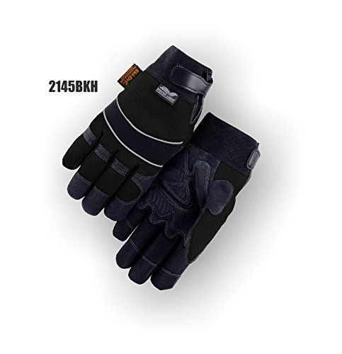 (12 Pair) Majestic ARMORSKIN GLOVES WITH VELCRO AND MAJESTIC PATCH & WATER PROOF & HEATLOK - 2X LARGE(2145BKH/12)