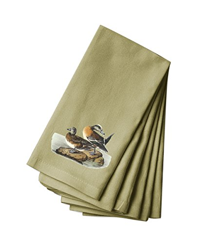 Canvas Napkin Set Of 4 American Wigeon James Audubon Birds By Style In Print