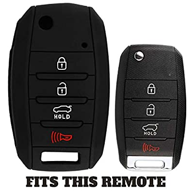 KeyGuardz Keyless Entry Remote Car Key Fob Outer Shell Cover Soft Rubber Protective Case For Kia Hyundai OSLOKA-875T, TQ8-RKE-4F19: Automotive