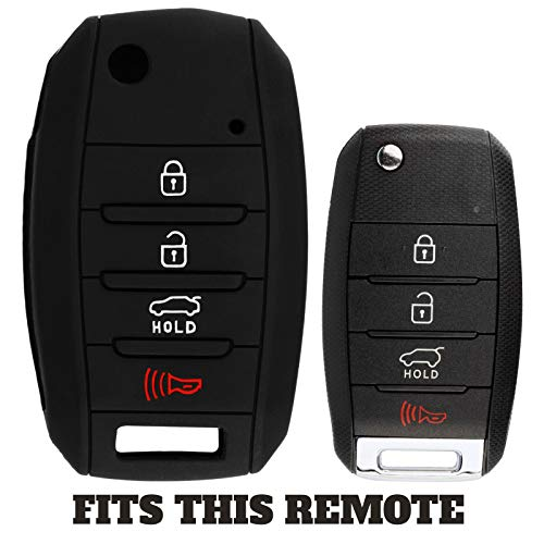 (For 13-19 Kia Sorento Soul Forte Optima Sportage Rio Rubber Keyless Entry Remote Key Fob Skin Cover 4btn)
