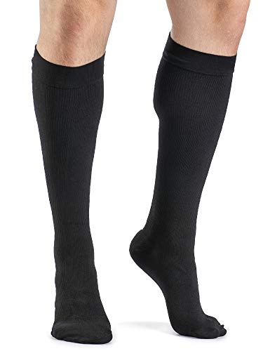 SIGVARIS Men's ACCESS 920 Closed-Toe Calf High Medical Compression 20-30mmHg,Black, Medium Long