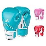 Trideer Pro Grade Boxing Gloves, Kickboxing Bagwork Gel Sparring Training Gloves, Muay Thai Style Punching Bag Mitts, Fight Gloves Men & Women (Turkis, 12 oz)