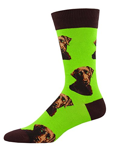 Socksmith Mens Novelty Crew Socks Lab-or of Love - 1 pair ()
