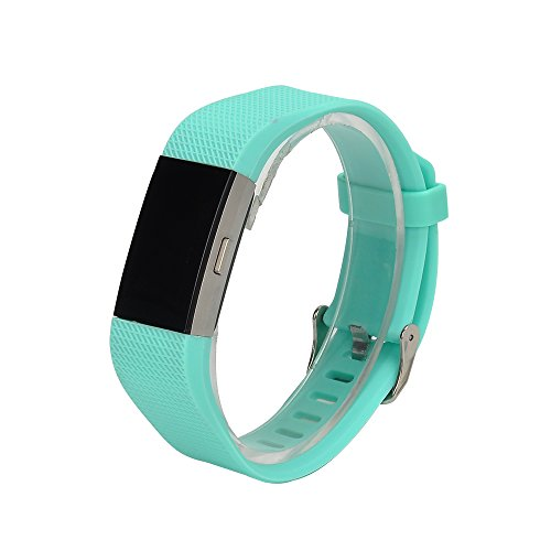 Bands for Fitbit Charge 2, Classic Fitness Replacement Accessories Wrist Band for 2016 Fitbit Charge 2 HR, 10 Colors (green)