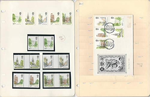 Great Britain Stamp Collection, 1980, 910-914 Mint & FDC's, 9 Pages